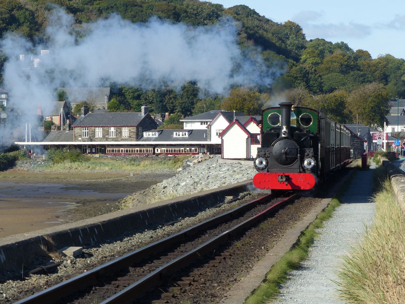 little railways of Wales. Rail Transportation Steam Train Landscape Locomotive Wales Porthmadog Ffestiniog Railway