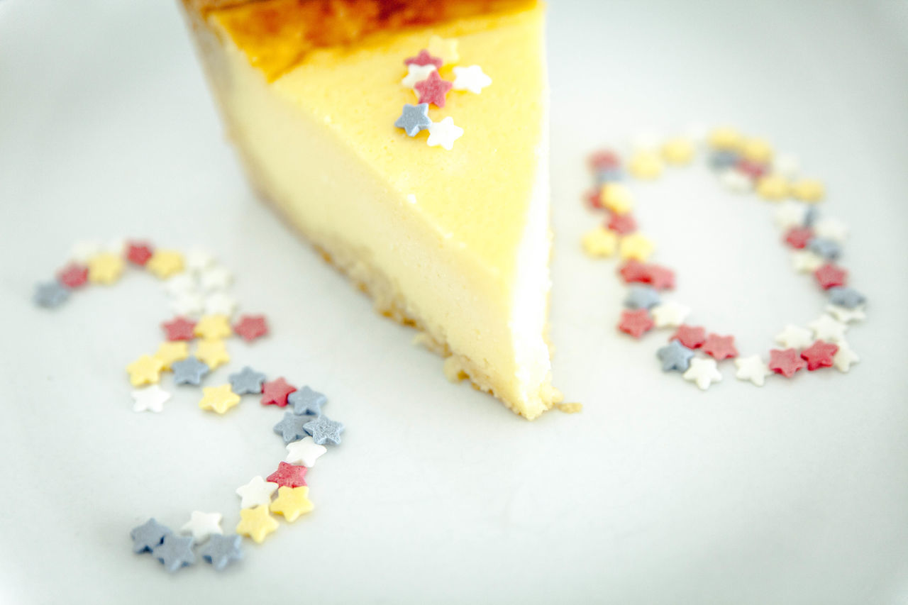30 30th 30th Anniversary 30thBirthday Cake Cheese Cake Close-up Day Food Food And Drink Freshness Indoors  Invitation No People Nutritional Supplement Pill Ready-to-eat Stars Studio Shot Sweet Food White Background