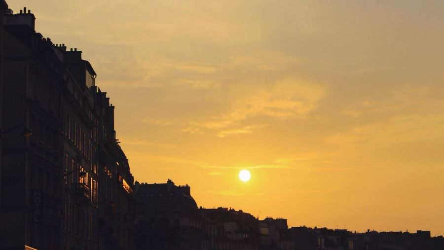 End of a parisian day. Sunset Paris Traveling Sky
