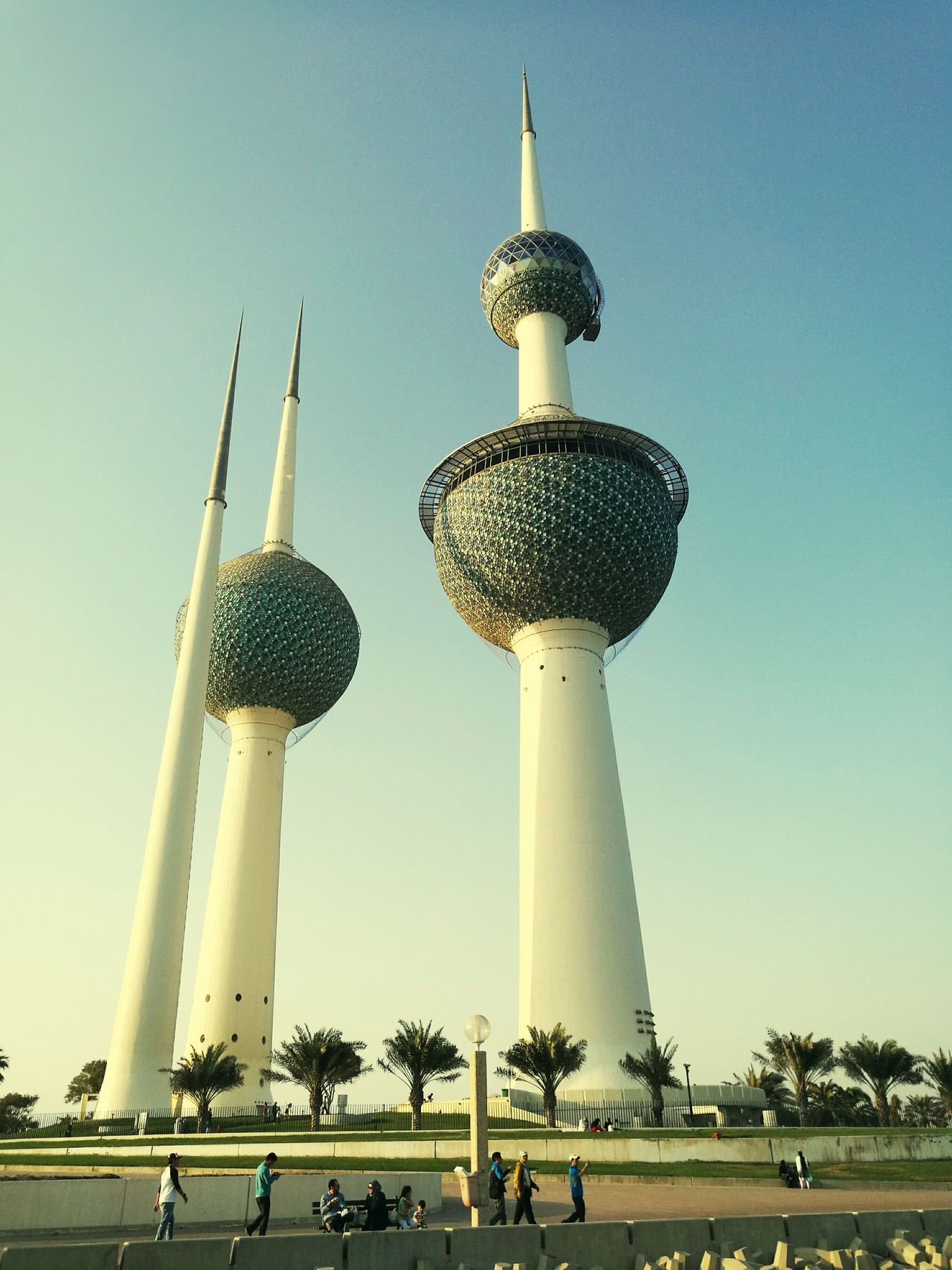 Kuwait Towers Clear Sky Travel Destinations Beautiful Day