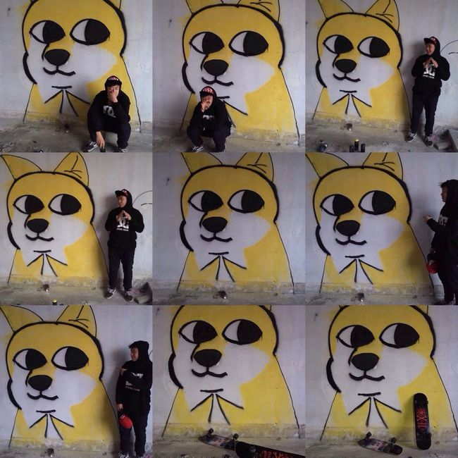 dog graffiti old school Hanging Out Taking Photos Hello World Enjoying Life Hi! Check This Out
