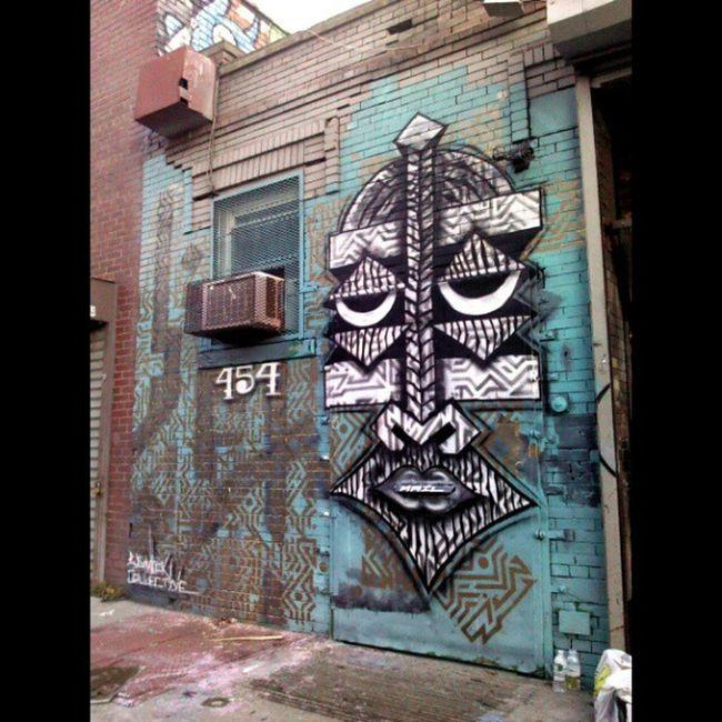 Final mural for @thebushwickcollective Streetart Wisetwo Kenya Srayforchange