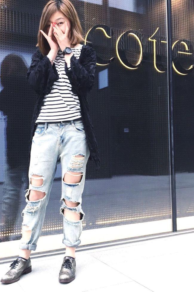 Initial Fashion Badgirl Cool Sweet♡