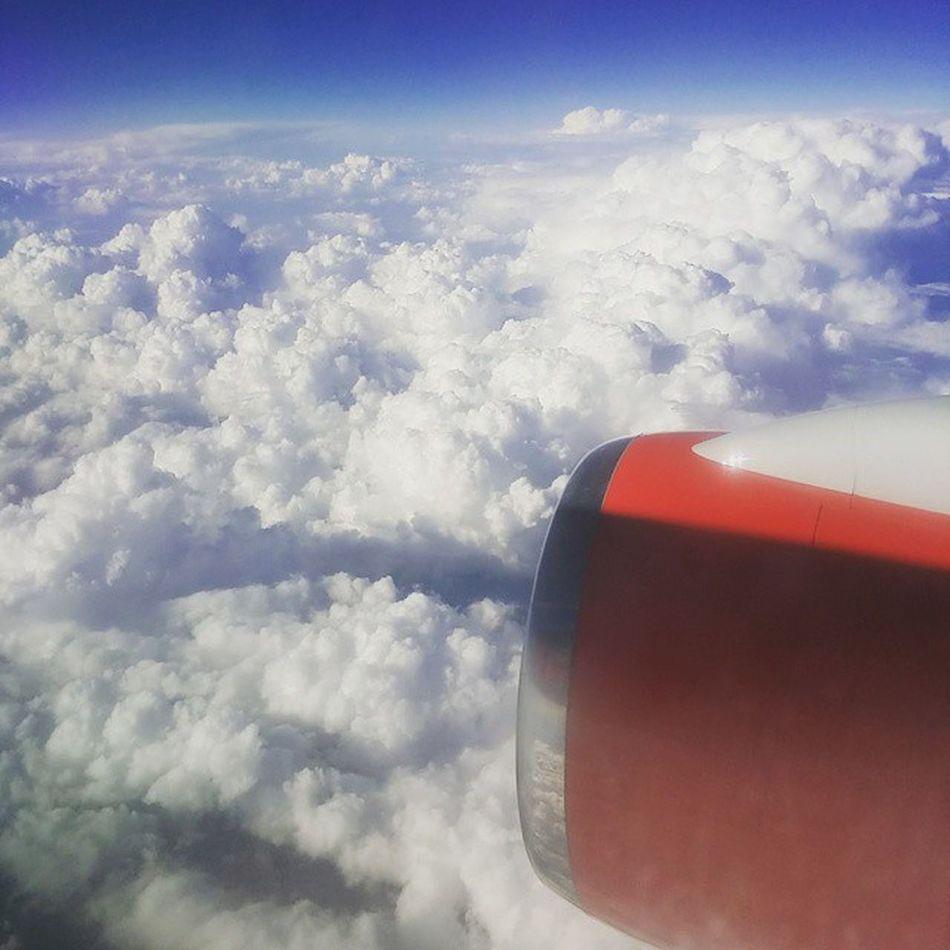 Sky Cloud Clouds Blue White Flight Flying Plane Aircraft Engine Jet2 @jet2pics
