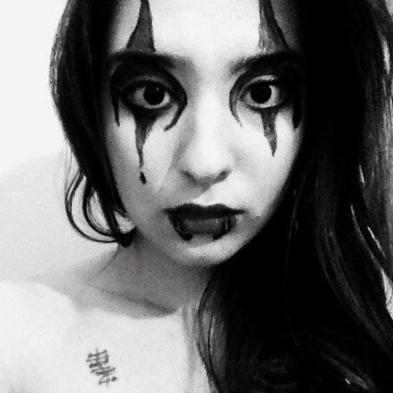 Blackandwhite Black That's Me Myself ThatsMe Makeup Hello World Black & White