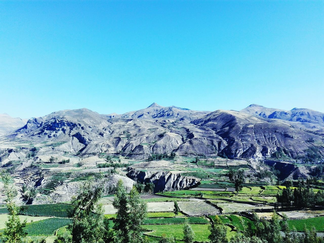 nature, beauty in nature, tranquil scene, landscape, blue, scenics, clear sky, tranquility, copy space, mountain, geology, no people, outdoors, day, physical geography, sky