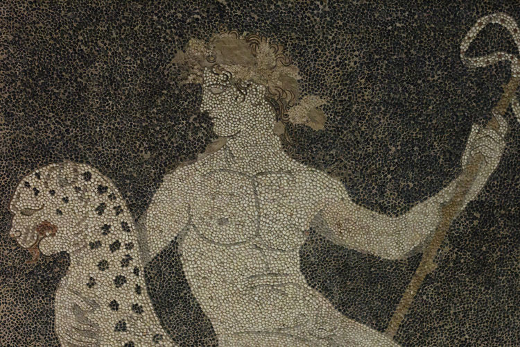 God Mosaic Close-up Dionysus History Mosaic Art Mythology Pebbles Textured