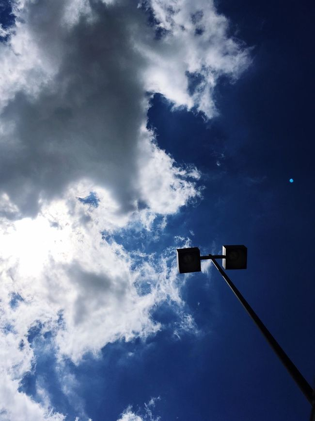 Big Clouds Blue Sky Way Up High In The Sky ~ Beautiful Sunroof Snapshot Chatham Ontario