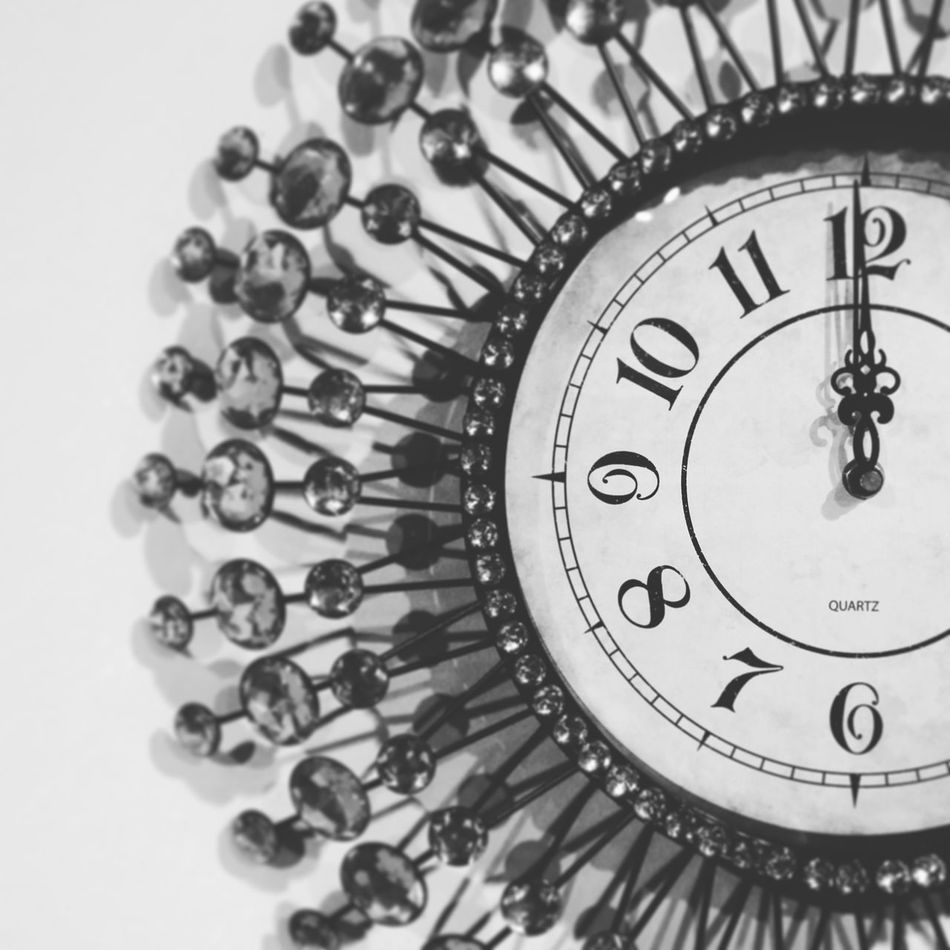 It's new year.... Time NewYear 2017 EyeEmBestPics Hope Clock Black And White Photography 12oclock Partytime Enjoy Motog4plus Motography