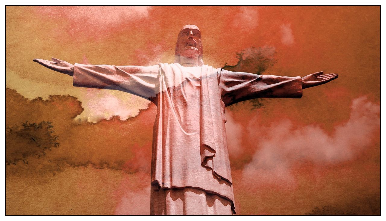 Statue of Jesus Christ (christo rey) Art And Craft Auto Post Production Filter Christ Christian Christianity Creativity Cross Day Human Representation Jesus Jesus Christ Jesus Is My Savior Jesus Loves You Jesuschrist Low Angle View Male Likeness No People Outdoors Place Of Worship Religion Sculpture Spirituality Statue