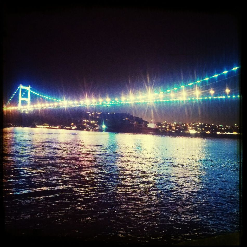 Night Bosphorus Travel Bridge