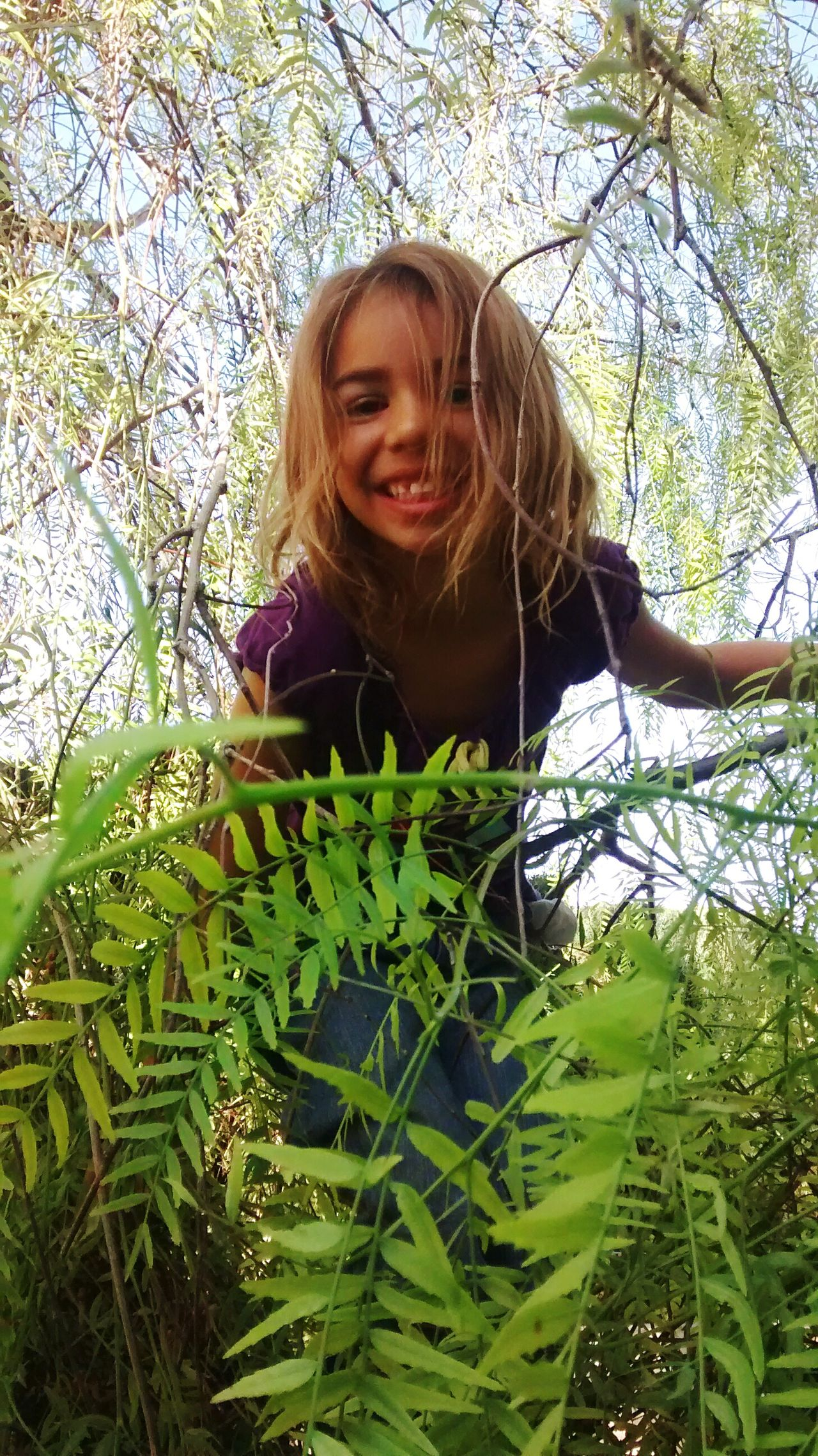 Climbing Trees Children Photography Children's Portraits Playing Outside Enjoying Nature Children Playing CHILDS SMILE Kids Being Kids Kids Having Fun Outdoor Activity My Kids In A Tree Beautiful Girl Having Fun Playing Hide And Seek Hiding In Plain Sight Sommergefühle