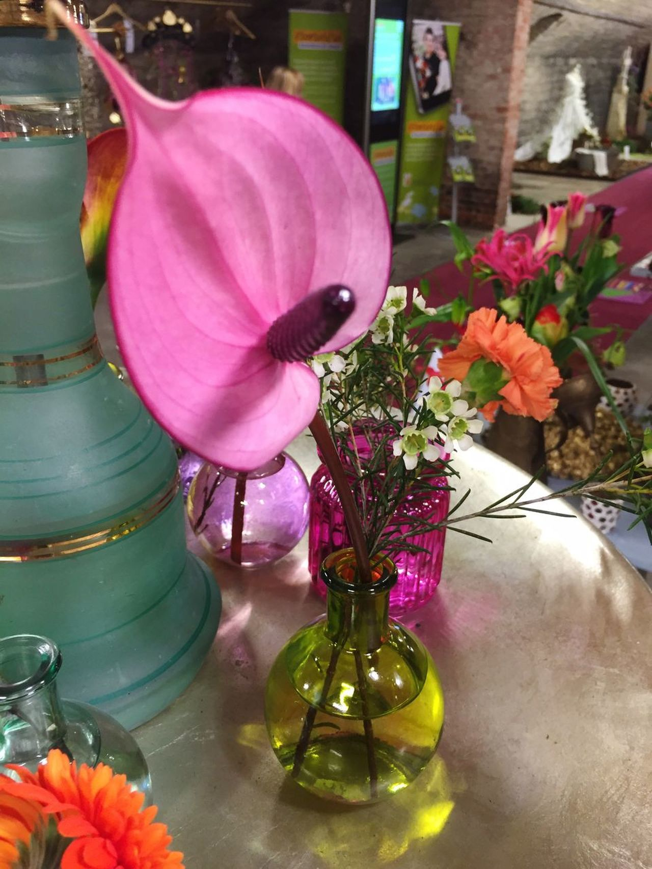 Pink flower decoration in a glass vase Flower Pink Color Petal Plant Purple Flower Head Fragility Nature Freshness Growth No People Blooming Flower Arrangement Beauty In Nature Close-up Indoors  Day glass vase