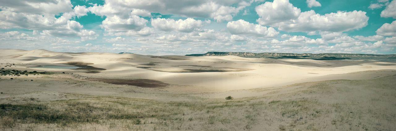 Sand Landscape Sand Dune Desert Panoramic Wyoming Landscape Red Desert Killpecker Sand Dunes