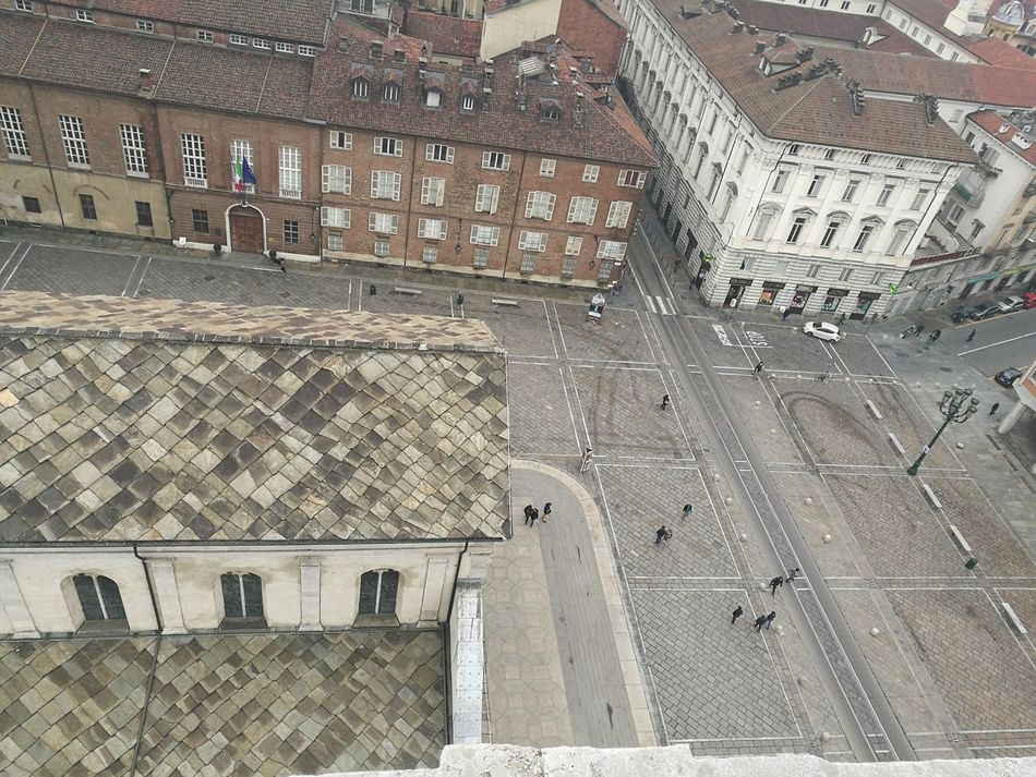 square saint john of turin above Above Aerial View Ancient Architecture Building Exterior Built Structure Day No People Outdoors Panoramic Saint John Square Turin Turin Italy