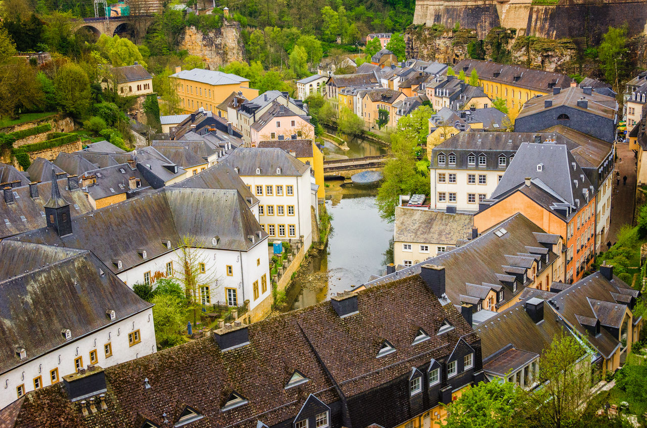 Architecture Building Exterior Built Structure City Cityscape Day High Angle View House Luxembourg Luxembourg Streetphotography Luxembourg_Collection Nature No People Outdoors Residential Building Tree
