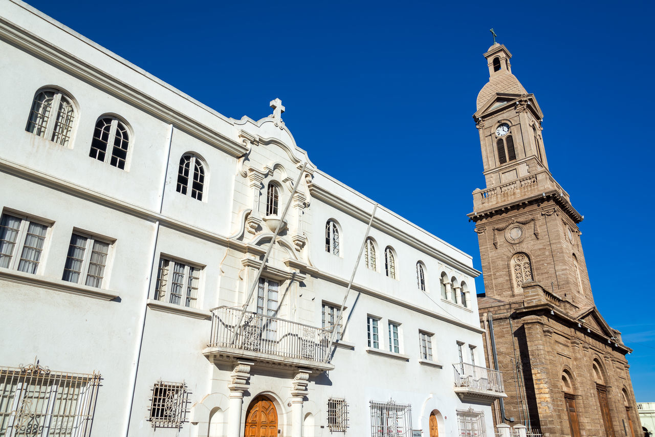 View of the cathedral in La Serena, Chile Architecture Blue Sky Building Building Exterior Built Structure Cathedral Chile Church City Destination Famous La Serena La Serena,chile Latin Monument Old Outdoors Religion Religious  Sky South America Street Travel Travel Destination Urban