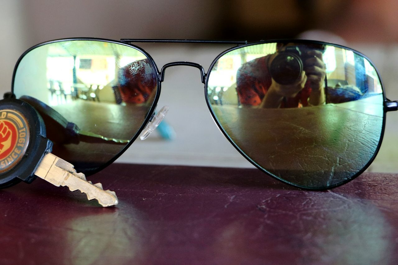 Reflection Close-up No People Illuminated Indoors  Day Sunglasses Reflection Sunglasses ✌👌