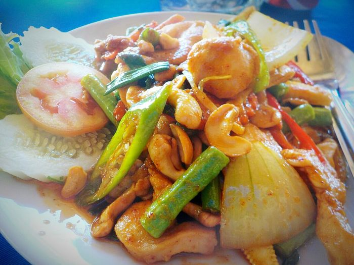 Food And Drink Food Freshness Healthy Eating Plate Close-up Ready-to-eat No People Day Chicken Nuts Vegetable Serving Size Thailand Love Tranquility Food And Drink Phuket,Thailand Layanbeach Thailand Thailand Photos Layan Thailand Thailand Trip Freshness
