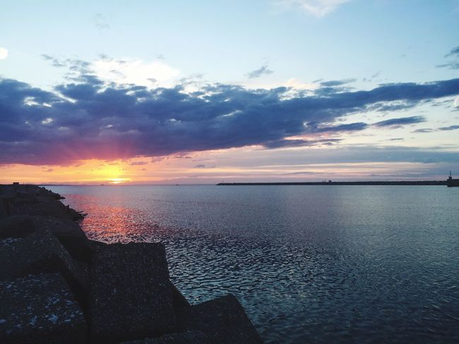Love the world Hello World Enjoying Life Relaxing PortodiAncona Sunset Adriatic Sea