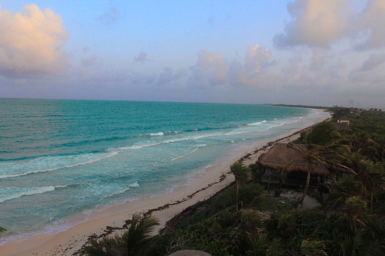 """Ultimo día de paraíso"" Beach Beauty In Nature Day Horizon Over Water Mx  Nature No People Scenics Sea Sky Tranquil Scene Tranquility Tulum , Rivera Maya. Water"