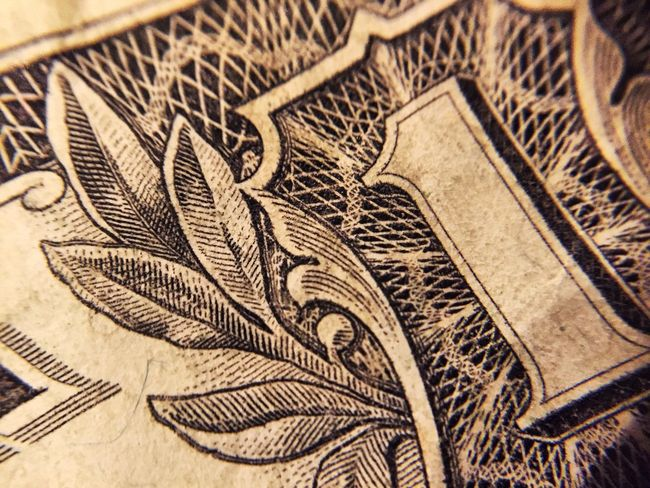 Close-up No People Paper Currency Indoors  Currency Day Detail Inflation  EyeEm Gallery Macro Photography Macro Money Currency Finance One E Pluribus Unum Spend Dollar Bill 1 $1 Macro_collection America Spider Octopus