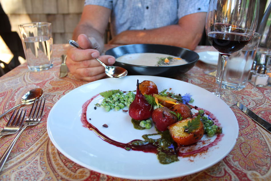 Farm fresh and beautifully displayed. Delicious birthday dinner with my husband. Close-up Dinner Farmers Market Farmtotable Food Food And Drink Freshness Indoors  Indulgence Lunch Meal Person Plate Ready-to-eat Restaurant Serving Size Table Temptation Togetherness Vibrant Color Blossom Red Beetroot Salad Beetsalad Gardenfreshsalad