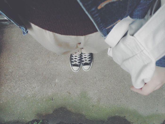 雨ですね〜〜カスタネのパンツかわいいっ◎ カスタネ Vscocam Kastane Converse