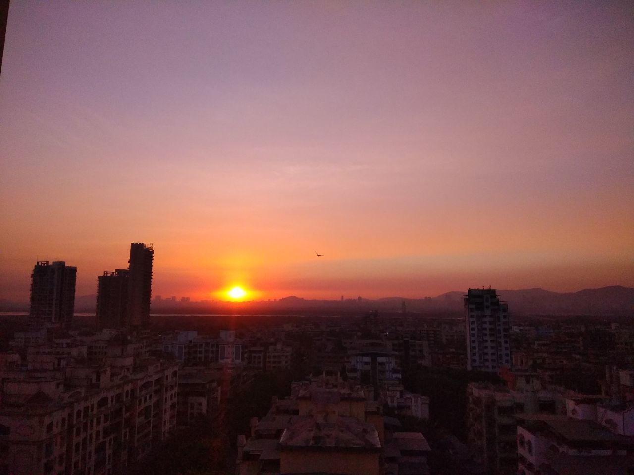 Sunset Cityscape City Urban Skyline High Angle View Sky Romantic Sky No People Peach Sky No Filter NoEdits  Calm Sky Awesome_sky City Life Cityscape Soothing To The Soul