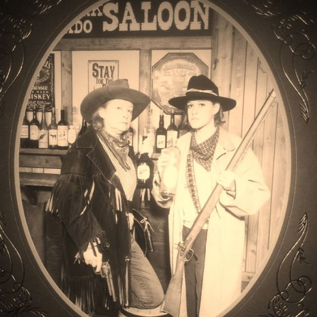By the way, my mom didn't like this picture because this is how she looks naturally. Lolsforever Wildwildwest Colorado Bandits mymomlooksbadass