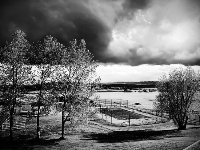 Cloud - Sky Sky Outdoors No People Day Nature Beauty In Nature Clouds Blackandwhite Dramatic Sky Scenics Tranquility Farmland The Great Outdoors - 2017 EyeEm Awards