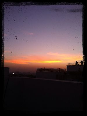 sunset at sindhi colony by Archana