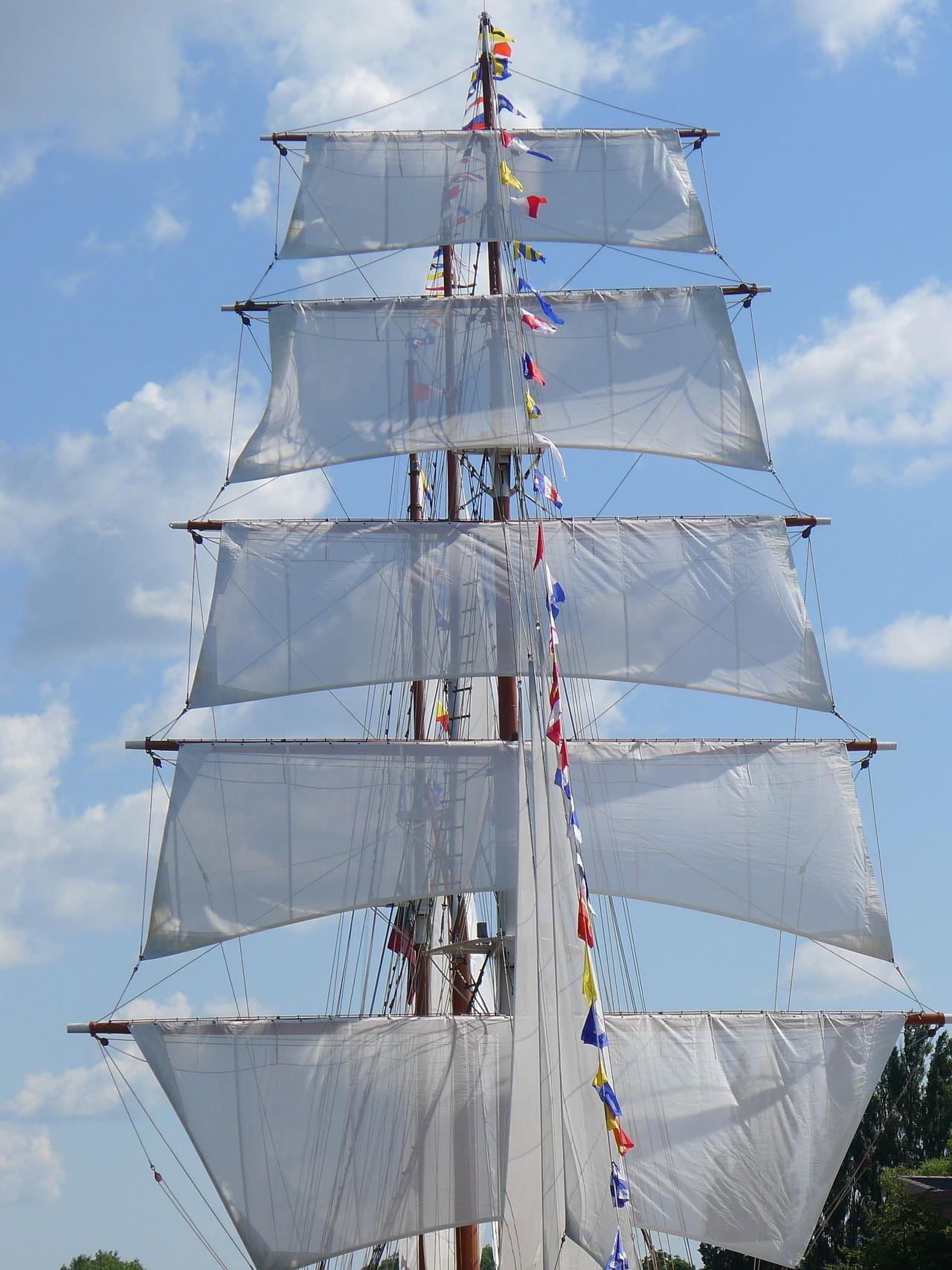 Cloud - Sky Day Mast Nautical Vessel No People Outdoors Sail Sailing Sailing Ship Sky