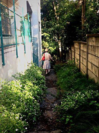 おぼつかない足取りで。 Portrait Of A Friend Backstyle Walking Around Girl