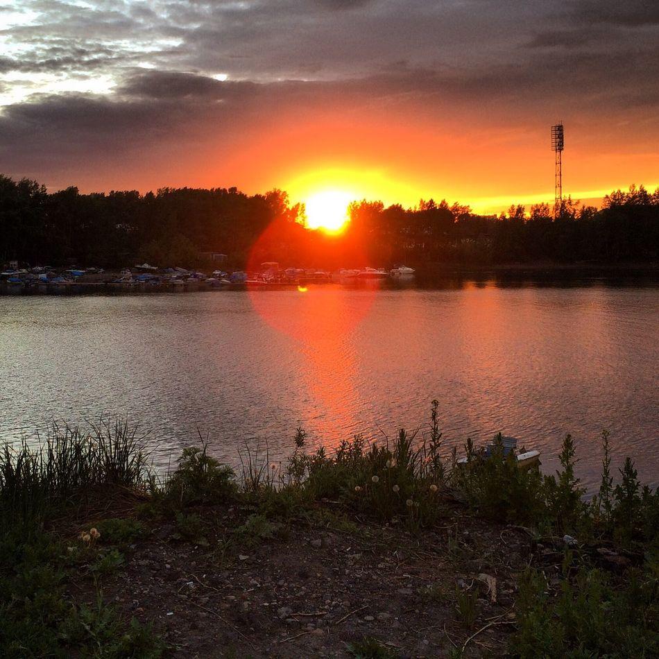 небо Sky вечер Evening Закат Sunset река River Енисей сибирь Siberia Россия Russia First Eyeem Photo