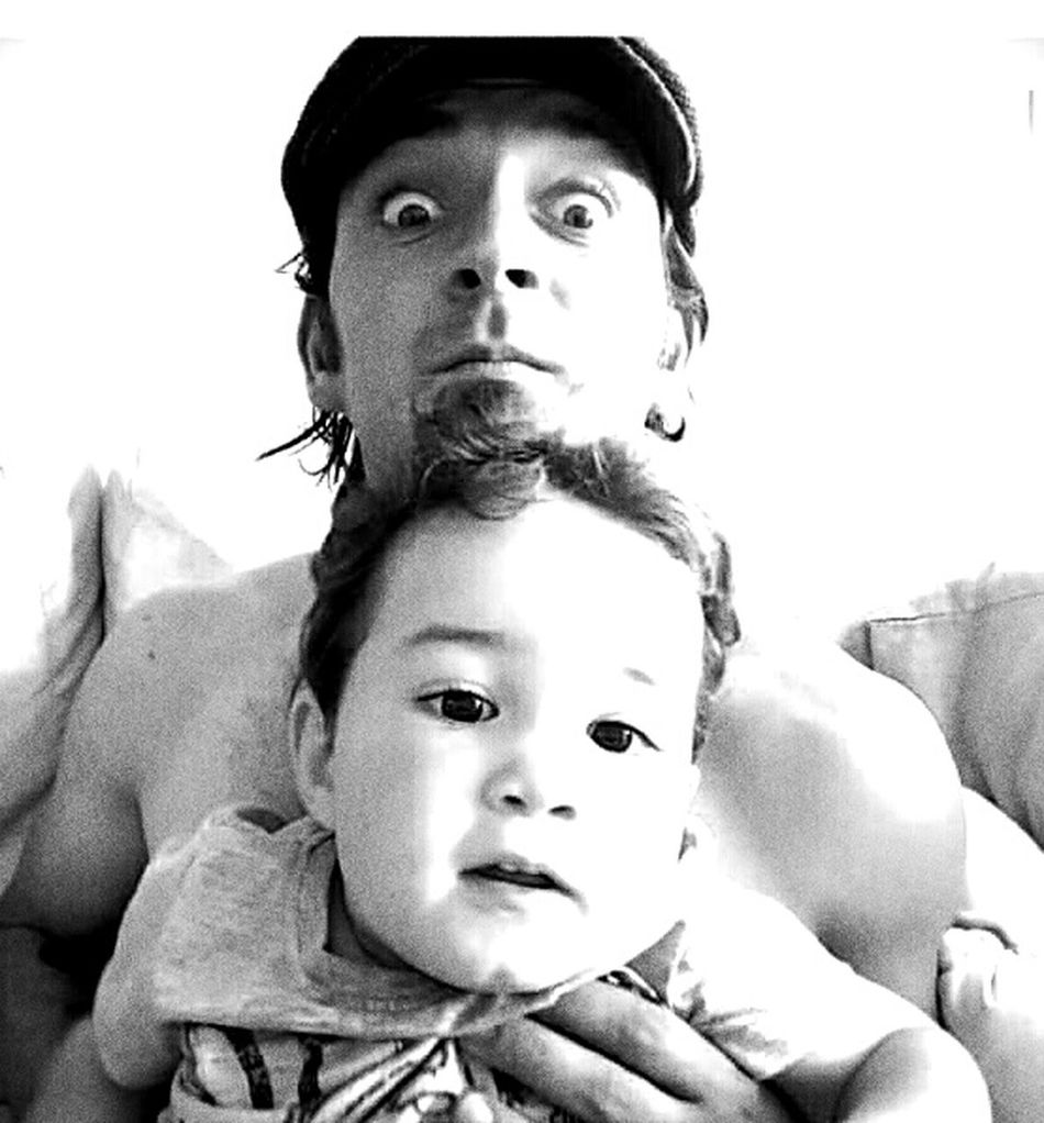 Thats My Boy  Thats Me  Father & Son Family Whole World In My Hands Black And White Fatherhood Moments