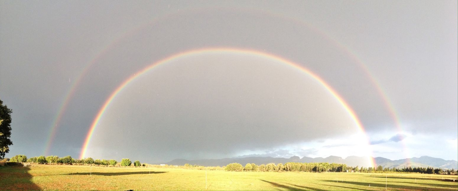 Double Rainbow Mother Nature Good Morning This Day Better Be Good!