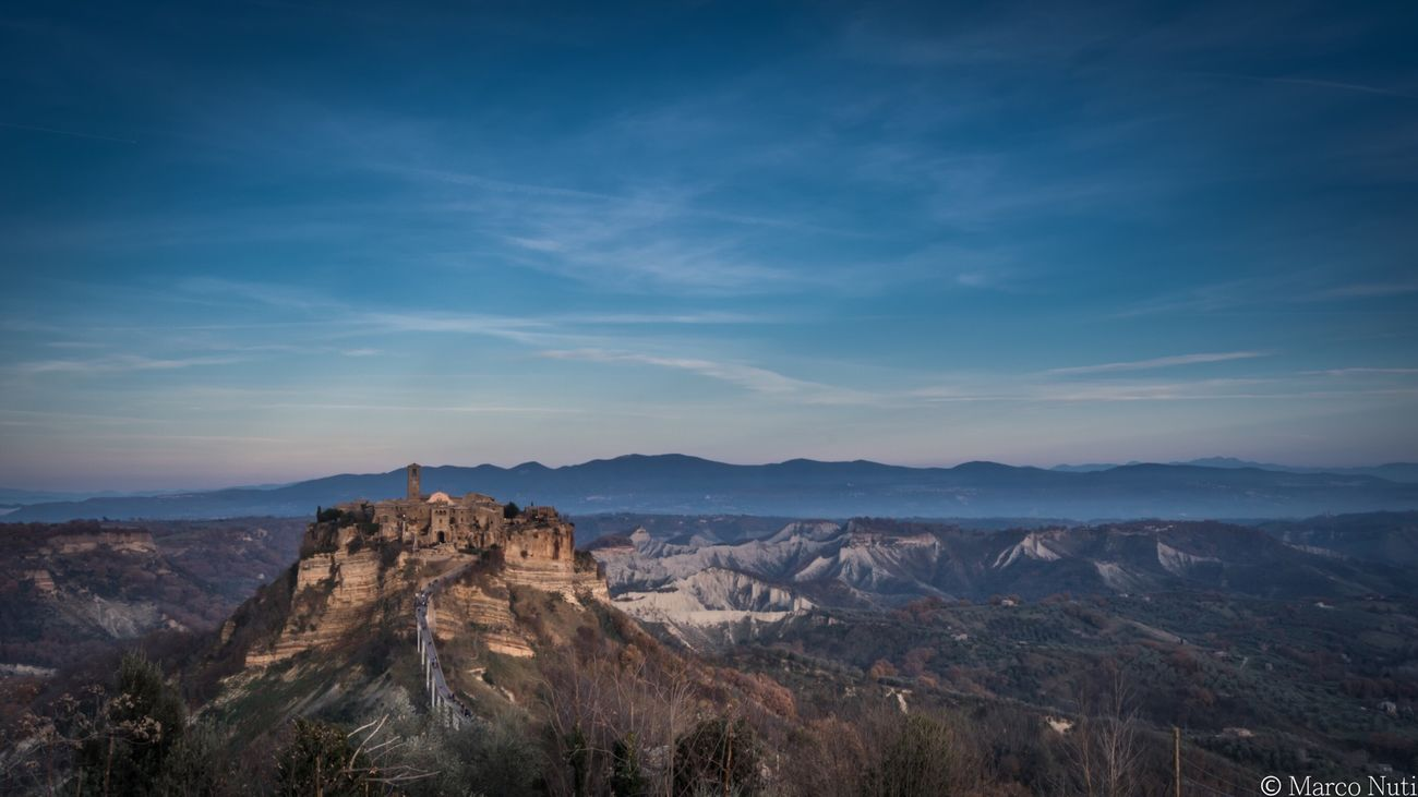Civita Di Bagnoregio Civitadibagnoregio Viterbo Italy Italia Panorama Panoramic Landscape Landscape_Collection Showcase: February Colors Ghost Town Trip Wallpaper