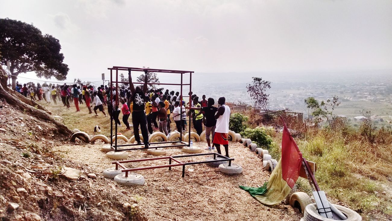 Get your Exercise on Ghana style while capturing the Aburi Landscape ... Peoplephotography Landscape_Collection Hdr_Collection Red Gold And Green Showcase: January