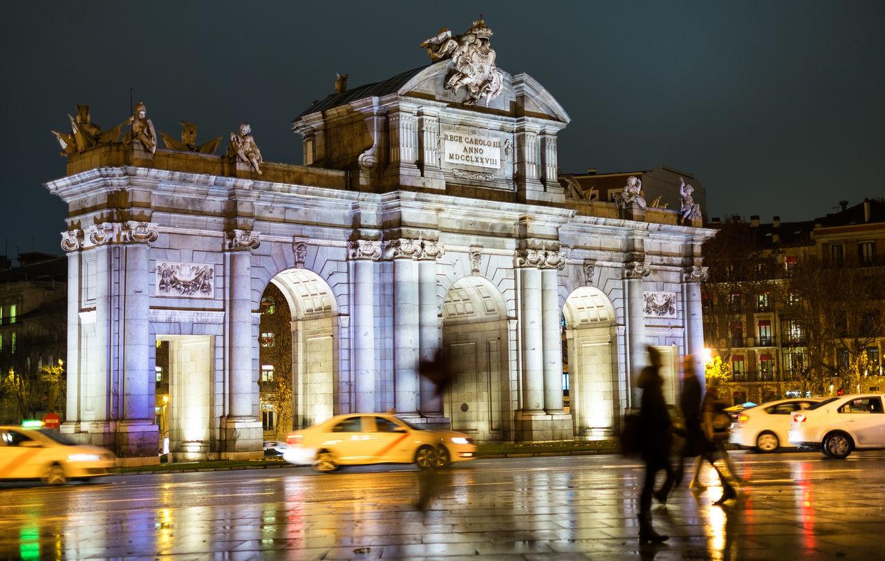 Arch Architecture Building Exterior España Europ Historic History Madrid Night Nocturna Puerta De Alcalá SPAIN