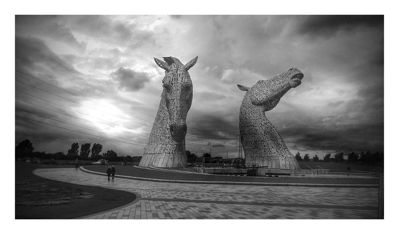 Kelpies Travel Tourism No People Outdoors Day Sky Cloud - Sky Sculpture Kelpies Of Falkirk