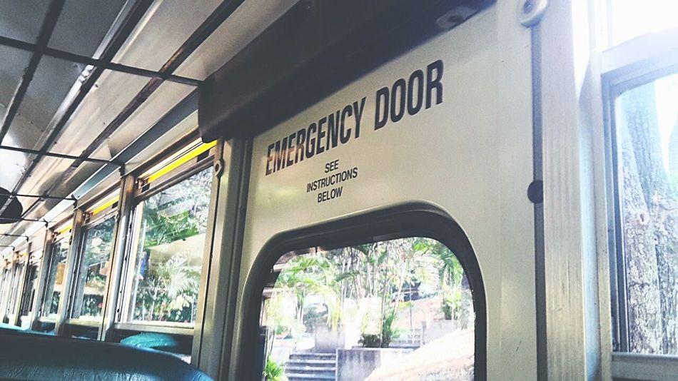 Emergency Door Waiting!!!  Listening To Music BORED!
