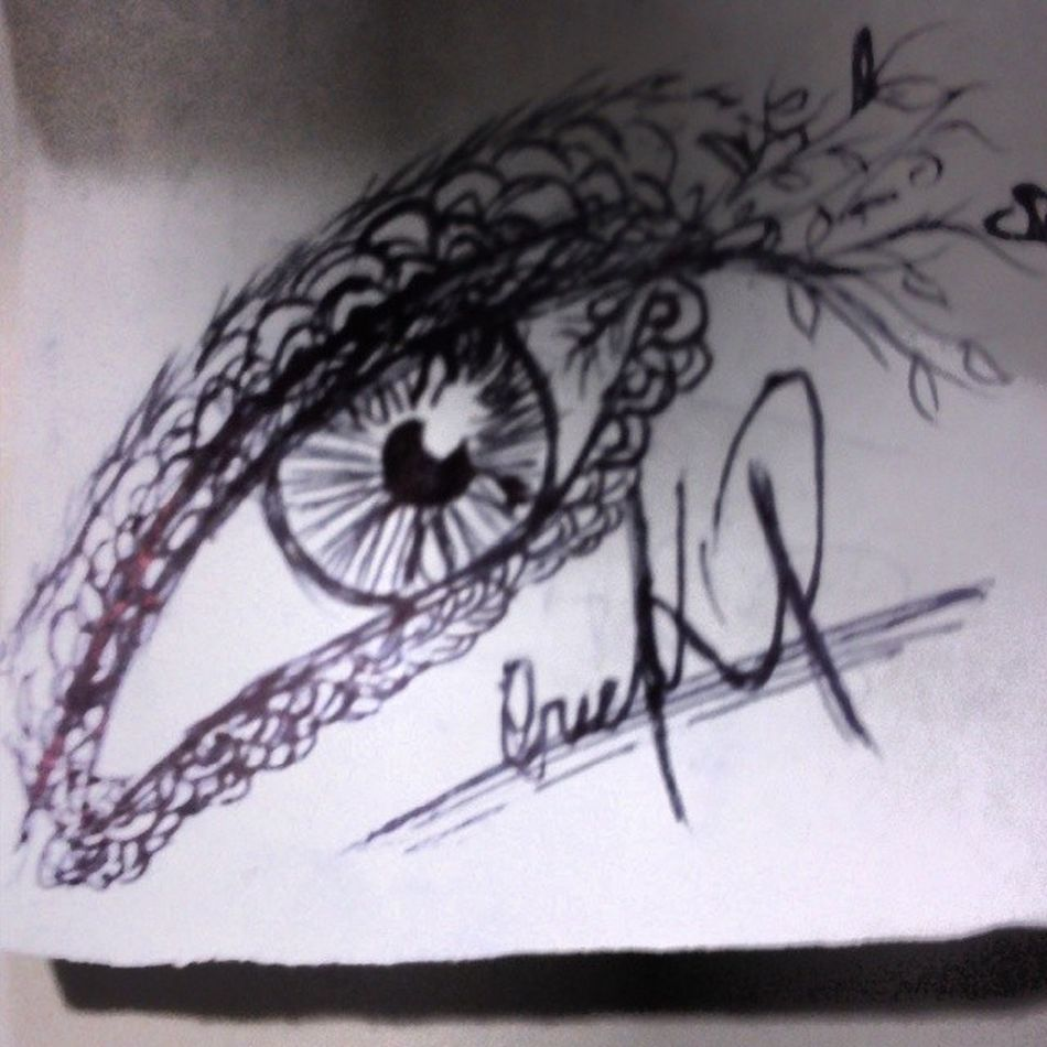 Eye in Pen Plant Face Imagination Ilustration Photo Like Good Nice Love Art Artist MyArt Fashioneye Follow Followme