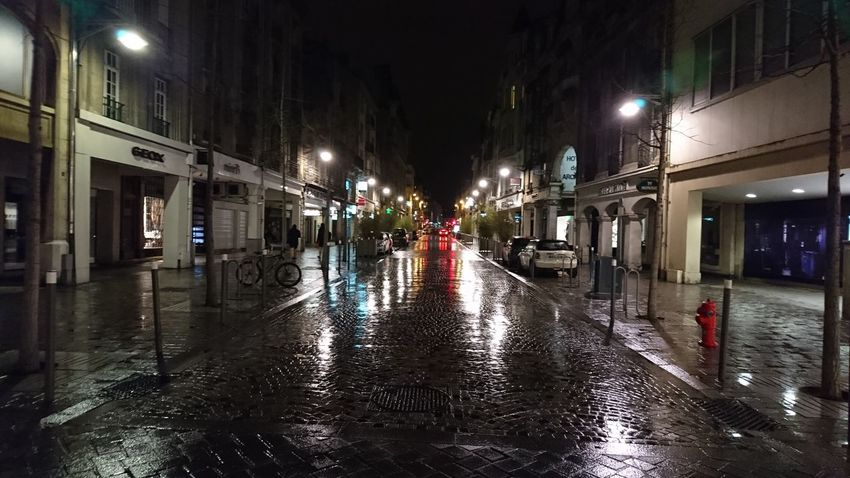 Night Illuminated Red Wet City Architecture Christmas Decoration Christmas Lights Outdoors No People Reims XperiaZ5 Xperiaphotography First Eyeem Photo Xperia Z5 XPERIA