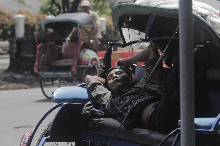 Becak Indonesian Transportation Yogyakarta