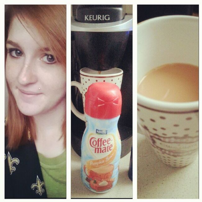 Good morning, y'all! Pumpkinspicecreamer Lovemykeurig Kcup Ginger morningface