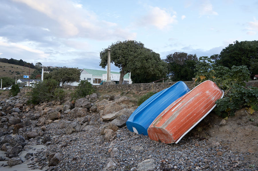 Oamaru Harbour Abandoned Beach Blue Boat Cloud Cloud - Sky Damaged Day Deterioration Discard Discarded Man Made Object Obsolete Old Outdoors Shore Sky Sunset Tranquil Scene Tranquility Transportation Tree Twilight Worn Out