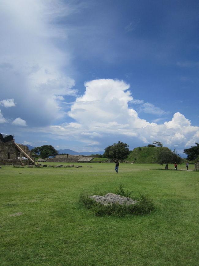 Monte Alban Oaxaca Cloud Cloud - Sky Cloudy Day Grass Grassy Green Color Landscape Mountain Nature Sky Tranquil Scene Ruinas Zona Arqueológica Monte Alban Oaxaca