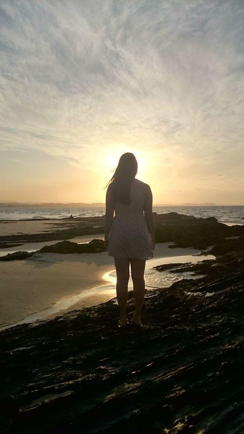 Beautifull Sunset Snapper Rocks Australia