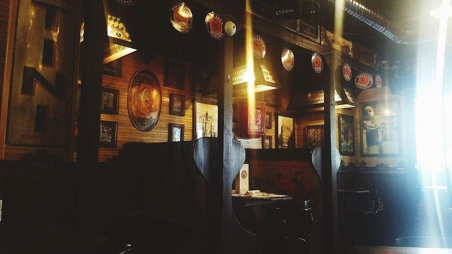 SPAIN España #bar #vintage #madrid Illuminated Restaurant
